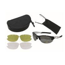 Glasögon CAVO, pro 4 linser/uv-400, svart/vit