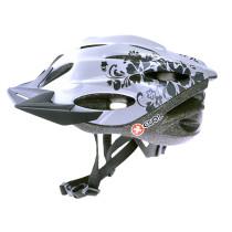 Cykelhjälm X-COOL City Jr, vit/silver 54-58cm