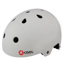 Cykelhjälm X-COOL, mattvit, 54-58cm