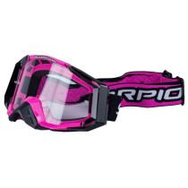 Glasögon SCORPION svart/pink, antifog, klar