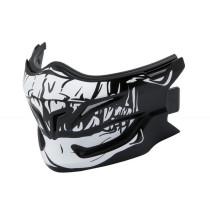 Hakskydd SCORPION EXO-Combat EVO Skull-mask, mattsvart/vit