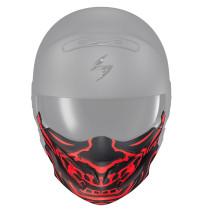 Hakskydd SCORPION EXO-Combat EVO Skull-mask, mattsvart/röd