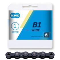 """Kedja 1-v KMC B1 (wide) svart, 1/8"""" X 112 L"""