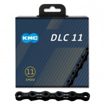 "Kedja 11-v KMC DLC 11, svart, 11/128"" X 118L"