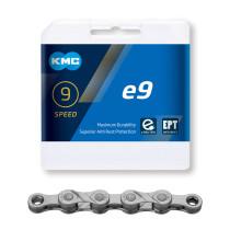 Kedja KMC e9, 9-delad, EPT antirost, 136L, E-Bike