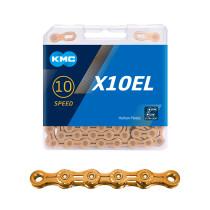 """Kedja 10-v KMC X10EL guld, 11/128"""" X 114L"""