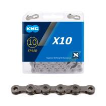 "Kedja 10-v KMC X10 grå, 11/128"" X 114L"