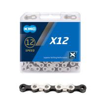 Kedja KMC X12 Silver/Black, 12-delad, 126L