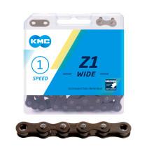 """Kedja 1-v KMC Z1 (wide) brun, 1/8"""" X 112L"""