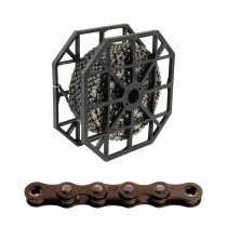 "Kedja 1-v KMC S1 (wide) brown, 1/8"" X 50m, E-Bike"